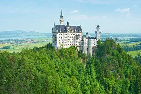 schloss: The castle of Neuschwanstein in Bavaria, Germany. Editorial