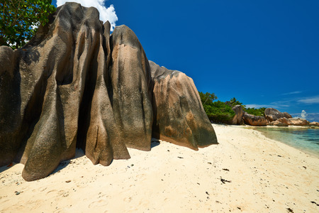 digue: Beautiful beach at Seychelles, La Digue, Anse Source dArgent