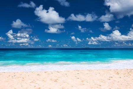 digue: Beautiful beach at Seychelles, La Digue