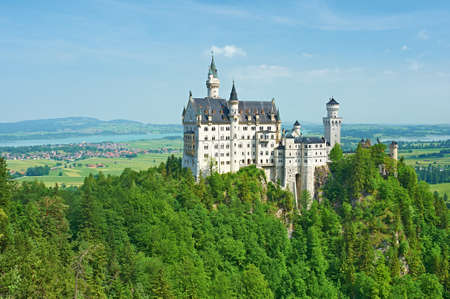 ludwig: The castle of Neuschwanstein in Bavaria, Germany. Editorial