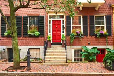 residential neighborhood: Street at  Beacon Hill neighborhood, Boston, USA.