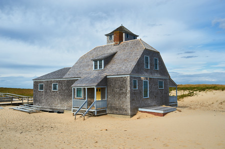Beach house at Cape Cod, Massachusetts, USA. Editorial