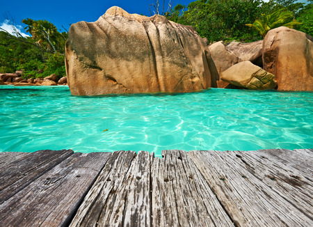 lazio: Beautiful beach at Seychelles, Praslin, Anse Lazio