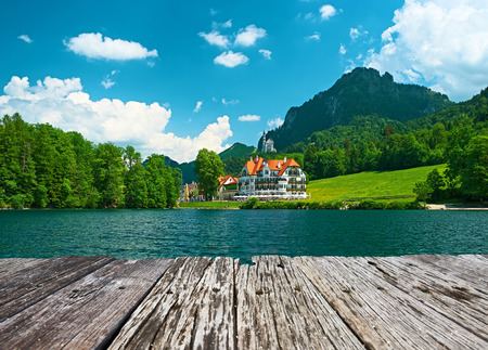 and germany: Alpsee lake at Hohenschwangau near Munich in Bavaria, Germany
