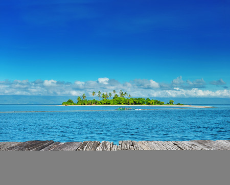 Beautiful uninhabited island at Philippines photo