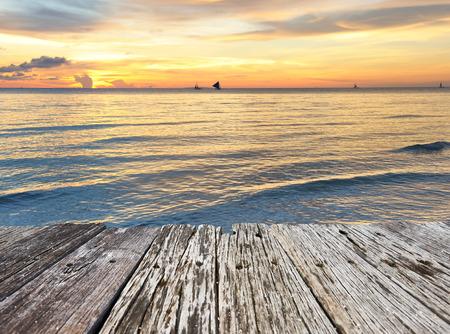 �sunset: Hermoso atardecer en Boracay, Filipinas Foto de archivo