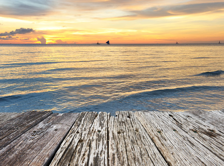 Schöne Sonnenuntergang am Boracay, Philippinen