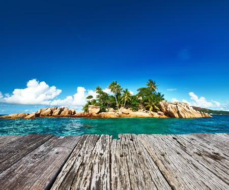 Beautiful St. Pierre Island at Seychelles photo