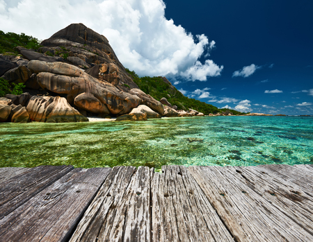 Beautiful beach at Seychelles, La Digue, Anse Source dArgent