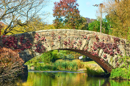 park: New York City Central Park in autumn day Stock Photo