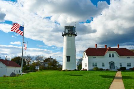 light house: Chatham Lighthouse at Cape Cod, Massachusetts. Stock Photo