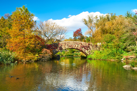 garden city: New York City Central Park in autumn day Stock Photo