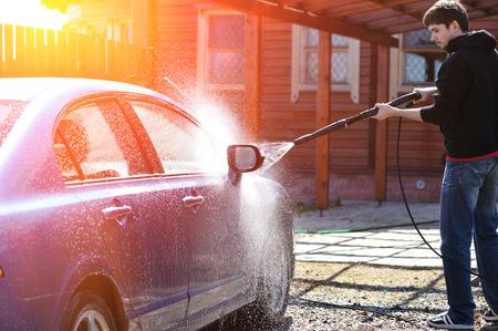 autolavaggio: Blue lavaggio auto a cielo aperto