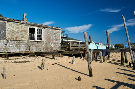 town house: Beach house at Provincetown, Cape Cod, Massachusetts, USA.