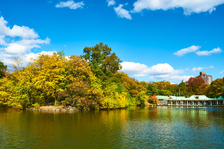 urban landscapes: New York City Central Park in autumn day Stock Photo