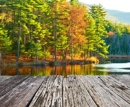 Teich im White Mountain National Forest, New Hampshire, USA. Standard-Bild