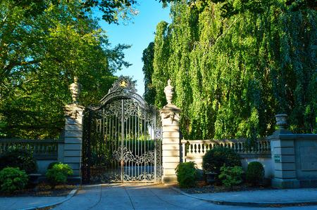 residential neighborhood: Luxury house in a residential neighborhood Stock Photo