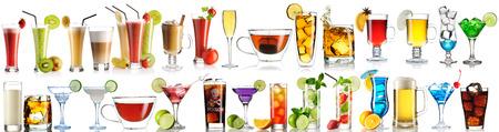 Norme collection de boissons isolé sur fond blanc Banque d'images - 47292675