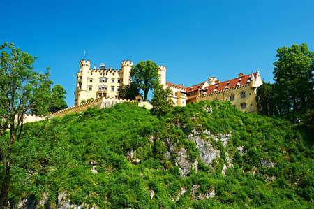 schwangau: The castle of Hohenschwangau in Bavaria, Germany. Editorial