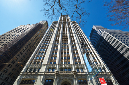 nyse: NEW YORK CITY - MARCH 31: Woolworth Building, March 31 2014 in New York, USA