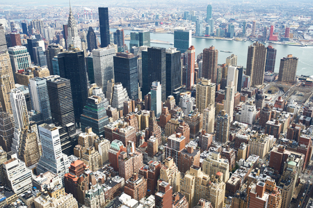 midtown: Cityscape view of Manhattan, New York City, USA