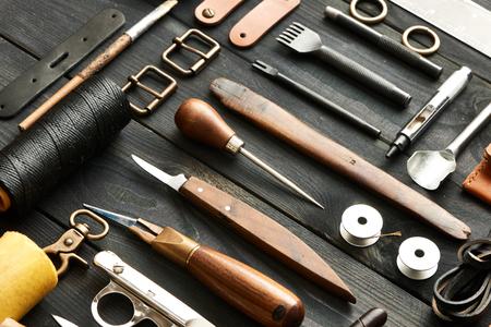 Lederhandwerk DIY Werkzeuge Stillleben