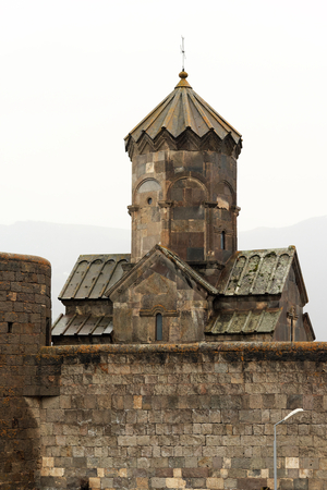 tatev: Ancient monastery Tatev in the mountains of Armenia. Was founded in year 906. Stock Photo
