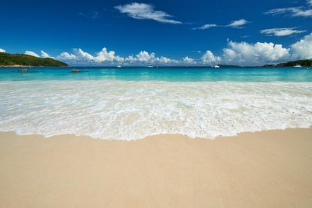 lazio: Beautiful beach at Seychelles, Praslin, Anse Lazio