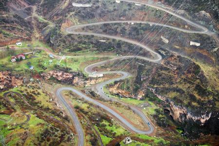 armenia: Mountain road landscape in Armenia