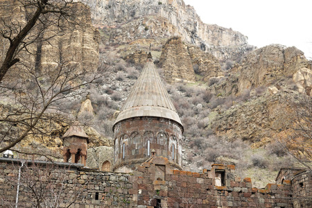 armenia: Ancient monastery Geghard in the mountains of Armenia. Was founded in 4th century.