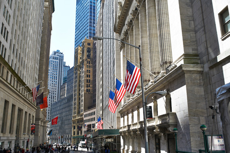 new york stock exchange: NEW YORK CITY - MARCH 31: New York Stock Exchange building, March 31 2014 in New York, USA Editorial