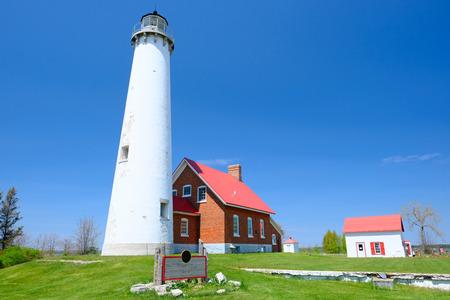 huron: Tawas Point Lighthouse, built in 1876, Lake Huron, Michigan, USA