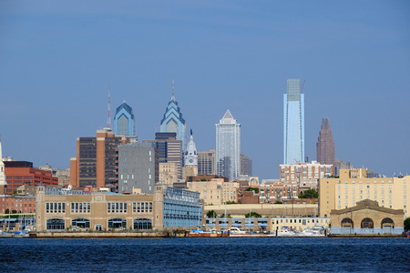 city buildings: Skyline of Philadelphia, Pennsylvania. No brand names or copyright objects.