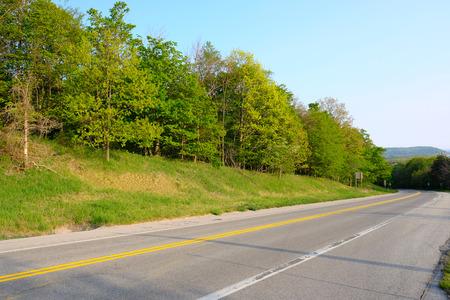 and arcadia: Scenic highway near Arcadia, MI, USA