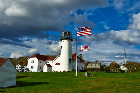 built in: Chatham Lighthouse, built in 1808, Cape Cod, Massachusetts