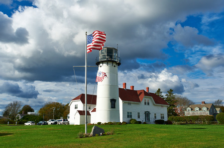 guard house: Chatham Lighthouse, built in 1808, Cape Cod, Massachusetts