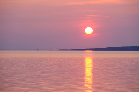 mi: Sunrise at Lake Huron, MI, USA