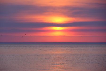 mi: Sunset at Lake Michigan, MI, USA