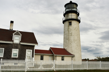 Highland Lighthouse, oldest and tallest on Cape Cod, built in 1797, North Truro, Massachusetts, USA. Stock Photo