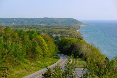 overlook: Scenic Lake Michigan overlook near Arcadia, MI, USA