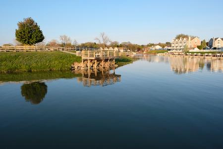 mi: Marina on Lake Huron at Port Austin, MI, USA Stock Photo