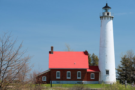 built in: Tawas Point Lighthouse, built in 1876, Lake Huron, Michigan, USA