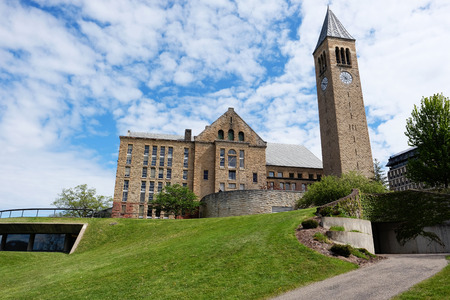 mcgraw: Cornell University in Ithaca, New York Stock Photo