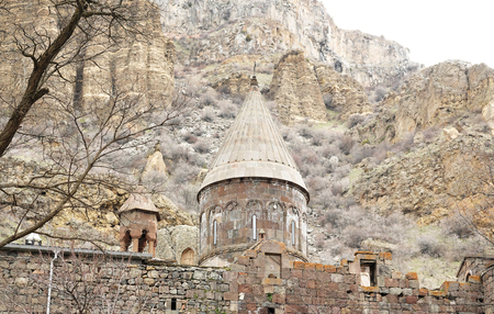 geghard: Ancient monastery Geghard in the mountains of Armenia. Was founded in 4th century.