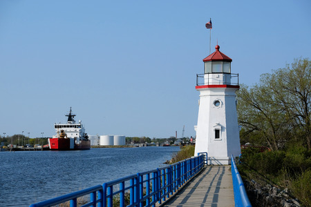 Cheboygan Crib Light, built in 1884, Lake Huron, Michigan, USA Stok Fotoğraf