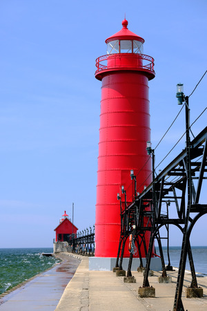 haven: Grand Haven South Pierhead Inner Light, built in 1905, Lake Michigan, MI, USA