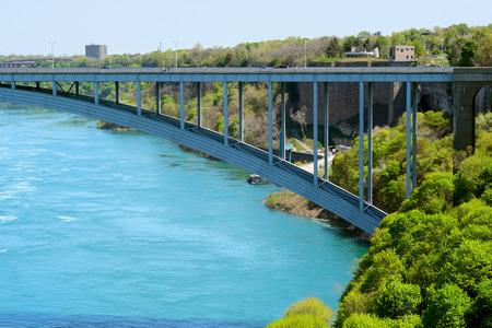niagara falls: USA-Canada border, Niagara Falls, New York, USA Stock Photo