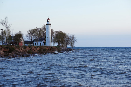 Pointe aux Barques Lighthouse, built in 1848, Lake Huron, Michigan, USA Stock Photo