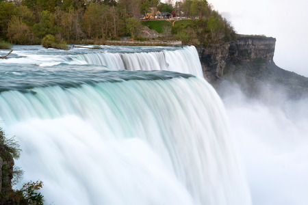 niagara falls: American side of Niagara Falls, New York, USA Stock Photo