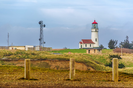 blanco: Cape Blanco Lighthouse at Pacific coast, built in 1870, Oregon, USA